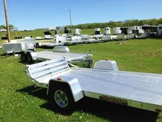 These trailers represent a part because they're meant to haul ATVs! I love riding those things, there so fun. I wish we had some, then we could buy trailers like these to haul them around with our truck.