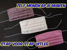 Zelf Mondkapje Maken, Makkelijk Stap Voor Stap Uitleg. - YouTube Jc Caylen, Sewing Hacks, Tricks, Diy And Crafts, Sewing Patterns, Make It Yourself, Knitting, Crochet, Youtube