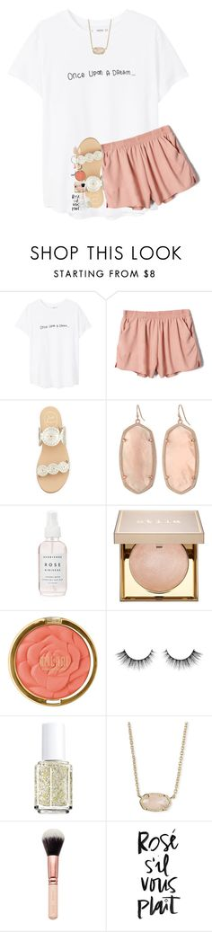 """e n f p"" by lindsaygreys ❤ liked on Polyvore featuring MANGO, Jack Rogers, Kendra Scott, Herbivore, Stila, Milani, Essie, WALL and Jigsaw"