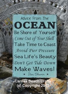 Beach Sign Beach Decor Advice From The by CarovaBeachSignCo, $41.00