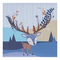 Features:  -Theme: Animal or insect.  -Charming design brightens up your baby's nursery.  -Screenprinted on canvas over sturdy frame.  Product Type: -Canvas art.  Theme: -Animal or insect.  Color: -Mu