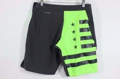 Mens Reebok Crossfit Black/Neon Green Training MMA Shorts Size Small Speedwick