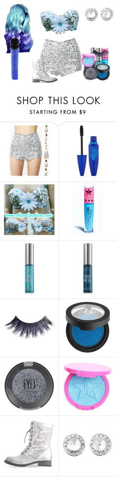 """""""Lillian Lockstar In """"Who's That Chick"""""""" by shestheman01 on Polyvore featuring Maybelline, Jeffree Star, Urban Decay, Manic Panic NYC, Kat Von D, Topshop and Swarovski"""