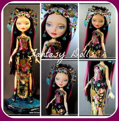 Ever After High Doll full OOAK by Fantasy Dolls by Donna Anne Ever After Dolls, Monster High Custom, Ever After High, Doll Eyes, Doll Repaint, Monster High Dolls, Hello Dolly, Custom Dolls, Ooak Dolls