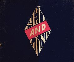 "Nice hand-drawn logo / type lockup: ""Sea and land"""