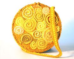 Freeform Yellow Spirals Bag