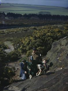 An Eighth Army Man on Leave, Wirral, Cheshire, 14 April 1944 Lance Bombardier Jack Grundy, of 441 Battery, 128 Field Regiment, Royal Artill...