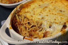 Baked Spaghetti Casserole is classic Italian food, simplified. You love how easy this pasta bake recipe is!