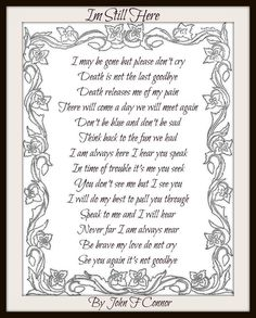 Death is not the last goodbye Miss Mom, Miss You Dad, In Loving Memory Quotes, Letter From Heaven, Images Noêl Vintages, The Last Goodbye, Grief Poems, Son Poems, Funeral Poems