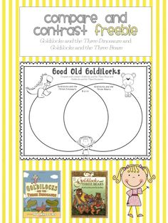 FREEBIE:  Compare and Contrast; Goldilocks and the Three Bears & Goldilocks and the Three Dinosaurs schoolisahappyplace.blogspot.com
