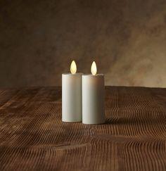 """Luminara Votive Candles (set of 2) - 3""""- Ivory"""