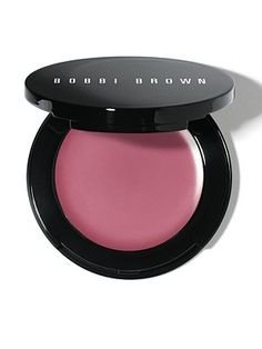 """Bobbi BrownPot Rouge for Lips and Cheeks. 25$ """"Our best-selling, multi-tasking cream color just got even better. It's now in a mirrored flip-top compact for on-the-spot application. Blend it on the apples of your cheeks for a just-pinched look. Blot it on your lips for a soft, stained finish."""""""
