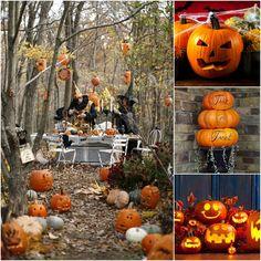 Alcune idee per originali decorazioni di Halloween con zucche spaventevoli www.festemix.com