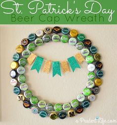 Beer caps are the perfect supply for a St. Patrick's Day craft project!