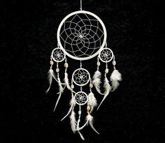 Traumfänger mit Kauri Muschel Engel Dreamcatcher von world-art-online via dawanda.com