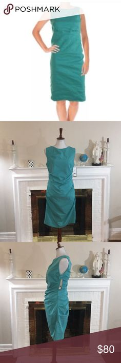 Spotted while shopping on Poshmark: 🌹Nicole Miller  women's Tuck turquoise dress🌹! #poshmark #fashion #shopping #style #Nicole Miller #Dresses & Skirts