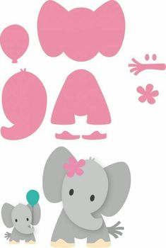 Risultati immagini per elefante marianne design Felt Patterns, Applique Patterns, Applique Templates, Elephant Template, Elephant Stencil, Elephant Applique, Elephant Pattern, Felt Crafts, Paper Crafts