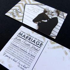 Post Wedding Celebration Invitation -- Custom Printable PDF, Wedding Reception Only Invite, Photo Save the Date Postcard