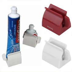 1pcs Toothpaste Dispenser Tooth Paste Tube Squeezer Toothpaste Rolling  Holder,,