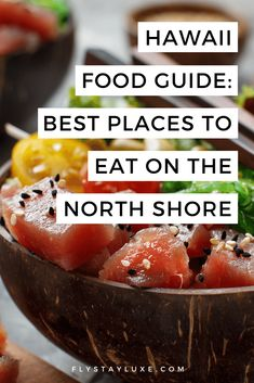 Hawaii North Shore FOOD GUIDE: here's a handy little guide to the best restaurants, cafes and food trucks on Oahu's North Shore, to plan your next holiday itinerary | Oahu food truck | Oahu food guide | where to eat North Shore Oahu | where to eat in Oahu Hawaii | Hawaii oahu food | best restaurants in Oahu Hawaii | Oahu Hawaii restaurants | best restaurants on the North Shore | coffee North Shore Vacation Food, Hawaii Vacation, Vacation Ideas, Hawaii Travel Guide, California Food, North Shore Oahu, Home Food, Food Trucks, Best Places To Eat