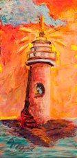 Original SOLD. Prints available on Fineartamerica.com...#lighthouse / #beach ...by Ann Lutz.