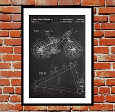 Mountain Bike Print, Mountain Bike Poster, Mountain Bike Patent Bike, Mountain Bike Art, Trek Bike Poster, Mountain Biking Decor by STANLEYprintHOUSE  3.00 USD  We use only top quality archival inks and heavyweight matte fine art papers and high end printers to produce a stunning quality print that's made to last.  Any of these posters will make a great affordable gift, or tie any room together.  Please choose between different sizes and col ..  https://www.etsy.com/ca/listing/2447..