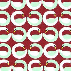 0 geometric swans pattern
