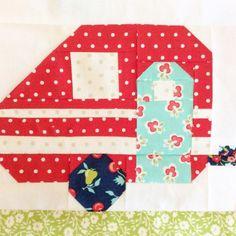 Vintage Camper Quilt Block Pattern by homespunh - Craftsy