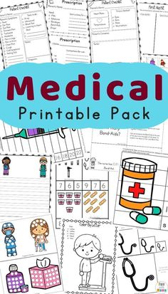 Free Printable Community Helpers Kids Doctor Kit and Doctor Games For Kids. Easy and Fun Homeschool Resource for Parents and Teachers to help kids learn about medical careers #freeprintable #resource #homeschool #preschool #medical #kids