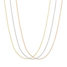 Gioelli Gold and Silver Overlay Rope Replacement Chain Necklace