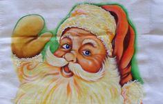 Como Pintar Papai Noel no Tecido (Câmera Rápida)