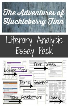 Best Huckleberry Finn Images  English Language Reading School The Adventures Of Huckleberry Finn Essay Pack For Your Novel Study An Essay On English Language also Essay Proposal Sample  Examples Of Argumentative Thesis Statements For Essays