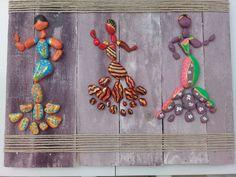 pebble art - taş pano