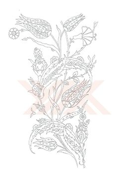 Folk Embroidery Patterns Turkish Motifs and patterns Jacobean Embroidery, Embroidery Motifs, Embroidery Designs, Turkish Design, Turkish Art, Lesage, Motif Floral, Black And White Drawing, Motif Design