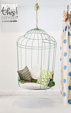 Bird cage swing chair - i want it!