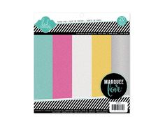 Heidi Swapp - Marquee Love Collection - 8.5 x 8.5 Paper Pad - Glitter at Scrapbook.com