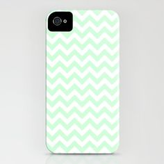 Chevron mint pastel  by Blanc Coco Photographer    IPHONE CASE / IPHONE (4S, 4)  $35.00