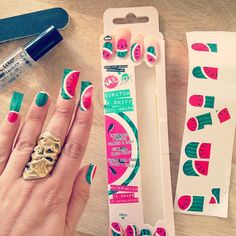 Oh, but they're Scratch & Sniff Watermelon Nails