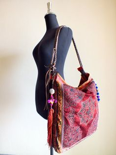 Hmong Ethnic handmade bag vintage fabric bohemian by shopthailand, $199.99