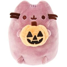 There is magic in the night when pumpkins glow with candlelight. This adorable purple Pusheen ghost is eager to show off his jack-o'-lantern. Collect all the spook-tacular Pusheen Halloween plush toys! Kawaii Plush, Cute Plush, Kawaii Cute, Pushing Cat, Pusheen Love, Cute Room Decor, Cute Stuffed Animals, Animal Pillows, My New Room