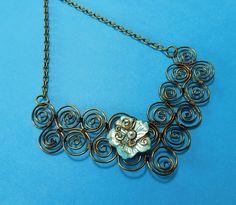 Statement Necklace for Wife, Girlfriend Jewelry Ideas, Boho Jewelry for Wife,Flower Jewelry for Wife,Bib Statement Necklace Girlfriend Gift