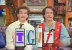 TGIF - Perfect Strangers! Friday night was my favorite night of the week...oh, and Sunday night :)