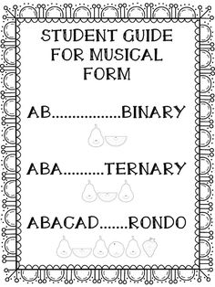 Quick and easy assessments of musical form for elementary music. Teaching Orchestra, Piano Teaching, Teaching Tips, Music Lesson Plans, Music Lessons, Music Education, Health Education, Physical Education, General Music Classroom