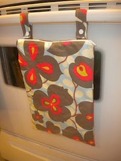 """Make a """"wet bag"""" for your kitchen! Perfect for dirty/wet towels when you're in the middle of cooking and don't have time to run to the laundry room."""