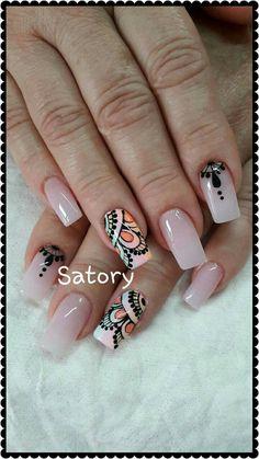Autumn Nails, Spring Nails, Nail Spa, Manicure And Pedicure, Nail Art Diy, Diy Nails, Posh Nails, Nail Trends, Stiletto Nails