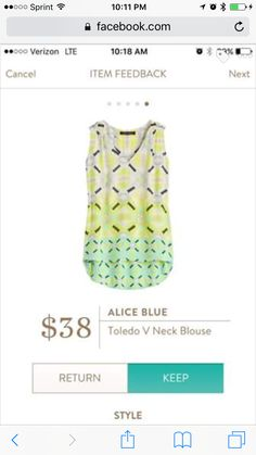 Alice Blue Toledo V-neck Blouse: Interesting print and colors- would try!