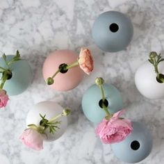 Bowl vases in ceramic from Swedish Cooee design. Vases, Home Accessories, My Photos, Creations, Pearl Earrings, Ceramics, My Favorite Things, Detail, Jewelry