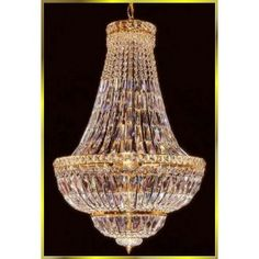 12 lights crystal chandelier in gold plated finish