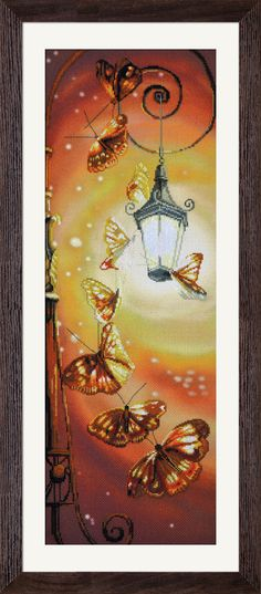 СР6009 Romantic. Cross stitch kits with canvas with printed