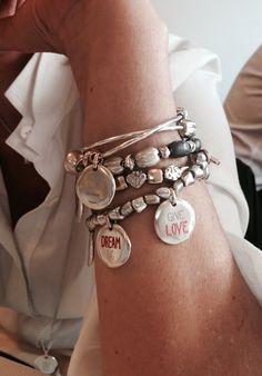 Scarf Jewelry, I Love Jewelry, Jewelry Art, Silver Jewelry, Beaded Jewelry, Pandora Bracelets, Bangle Bracelets, Silver Bracelets, Fashion Bracelets